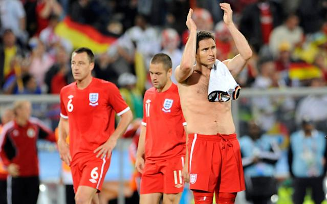 "Of the 211 goals he plundered to become Chelsea's all-time leading scorer, and the 29 he managed in 106 England appearances, it is still the goal that never was that people want to discuss with Frank Lampard. It is the 2010 World Cup, and there are eight minutes remaining of the first half in England's last 16 tie with Germany in Bloemfontein. Fabio Capello's team have clawed their way back into a match that had been running away from them, with Matthew Upson's header reducing the deficit to 2-1, when Lampard brilliantly loops a shot over goalkeeper Manuel Neuer. The ball bounces off the underside of the crossbar and over the goal-line by at least two feet. Lampard celebrates momentarily before putting his hands to his head as he realises no goal had been awarded. Capello, likewise, cannot resist a fist-pump before looking around him in astonishment as the game continues. Commentating for the BBC, Mark Lawrenson shows himself to be eight years ahead of his time by calling for video technology. ""Thanks very much Sepp Blatter,"" he says, sardonically. ""I hope he's squirming in his seat right now."" Germany went on to win 4-1, but ask Lampard about his World Cup memories and he admits it is this 'goal' that dominates his thoughts. Lampard's shot bounced off the underside of the crossbar and over the line by at least two feet - but the goal wasn't award Credit: Getty Images ""Of all the things I've done with Chelsea or goals scored for Chelsea or England, the goal I didn't score is the one I get asked about most,"" said Lampard. ""Particularly if I travel because it's the biggest competition in the world – all eyes are on it, globally. I would say that's my defining memory of all my World Cups, let alone 2010. ""I knew straight away it had gone in because it dipped off the bar. I kind of wheeled away and I had a perfect sight of it. It wasn't like it was a tight decision. I actually saw the daylight of how far it bounced over the line. ""Normally with those things you are not quite sure, but I was sure straight away so I couldn't work it out. Everyone knew and the dressing room was an angry place because it was just before half-time and it would have made it 2-2."" World Cup squad analysis Capello tried to tell his players to forget about the decision at half-time, but there was to be no way back for England. For Lampard, the decision of Uruguayan referee Jorge Larrionda was the game's decisive moment. ""It does get talked down how much that impacted the game,"" said Lampard. ""People say 'you would have still lost' but we wouldn't have done because we would have come out different in the second half. We were 2-1 down, but at 2-2 we were on the front foot – completely different game. ""We came out second half and we were playing pretty well, I think I hit the bar from a free-kick and we had another chance, but as we became more desperate we got counter-attacked and exposed. I can't say we would have won the game for certain, but it certainly would have had a major impact."" World Cup kits ranked Other than Lampard's 'goal', England's 2010 World Cup campaign is largely remembered for the way in which Capello sent his players stir-crazy by locking them away in a remote training base in Rustenberg. Wayne Rooney has claimed Capello and his Italian staff upset players by supporting Italy while staying in England's remote hotel. Lampard cannot remember that, but does admit the set-up was wrong. ""It was just difficult, it didn't feel right,"" he said. ""We were 20-odd young lads, and it's a long period of time. We were hearing stories of other teams getting more down time like Spain, who were flying, and we found that difficult. Looking back, we would have done it differently. ""We were in a hotel for a long time, we had been to Austria twice, then we were very secluded in South Africa. I'm not making excuses, but, with hindsight, the set-up around us wasn't conducive to success. ""Players don't want to take liberties, they want a decent environment that is the best for them and maybe if more open conversations had taken place going into it, it might have been better. I think at tournaments it's important to get out, go and see local communities, to go and show some interaction and go and see some local villages. We did feel like we were just completely cocooned."" World Cup whatsapp promo While Gareth Southgate's class of 2018 travel to Russia with one of the youngest squads at the tournament, England in 2010 were a different beast. In addition to Lampard - who turned 32 during the tournament - Capello could call upon senior figures such as Rooney, John Terry, Ashley Cole and Steven Gerrard. Yet even this gilded group, with a stack of league and European titles between them, could not cope with having the expectations of a nation placed on them. ""As an England squad, we never got to grips with dealing with that pressure,"" said Lampard. ""It was always difficult to handle and press conferences were hard, very hard. When you are away at a tournament you aren't trying to keep the peace, but you don't want to say anything that could be taken negatively. Every press conference we were sort of ducking and diving to keep a positive outlook because you need that. ""The only thing I'd do is try to take that fear factor out of it now, even though it's easy to say. When you get to a tournament it's very intense, but I'd like to think that with the players we have now, everything will be done for them and I don't expect any mistakes around the hotels and training. Lampard said England's squad was cocooned during the World Cup Credit: PA ""It's up to them to believe they can do it on that level because you have to have a belief and a freedom to play. We have players who are ready for that step – in Harry Kane, Dele Alli, Raheem Sterling. That's the next step now."" Lampard is now embarking on the next phase of his career, having been appointed as the new manager of Derby County last week. He is already busy preparing for the new season - Jody Morris arrived as his assistant on Monday - but will be a keen observer of events in Russia. And despite never being part of a successful England team at a tournament, he disagrees with any suggestion that his international career should be a source of regret. ""Obviously, I would have liked to have won the World Cup and that's an easy thing to say,"" he said. ""But for all the difficult moments and the World Cups, with England I have a bigger sense of pride for playing so many times – I never thought I'd play 100-odd times. ""I didn't necessarily think I'd go to World Cups and be playing. My best feeling in an England shirt was probably Euro 2004, my first tournament because we had that momentum and I really did feel like we could go and win that. That felt great, but all the other World Cups for me never really started. ""But I don't look back and keeping going over those moments. Instead I think I played over 100 times and that's the sort of thing my family and I can be proud of – I just wish we had won something."""