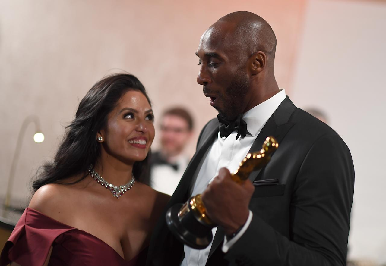 In 2018, Kobe Bryant won an Oscar for the poem he turned into a short film, Dear Basketball. <em>[Photo: Getty]</em>