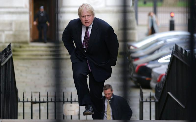 Boris Johnson has long said since becoming foreign secretary that Mr Assad must go - Credit: AFP PHOTO / Daniel LEAL-OLIVAS