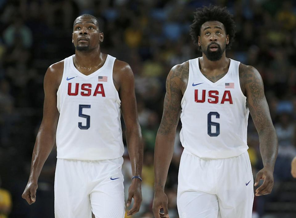 Kevin Durant first became friends with DeAndre Jordan when he tried to recruit him to Texas. (Reuters)