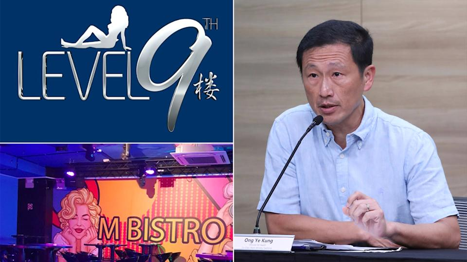 Health Minister Ong Ye Kung said that it could be counterproductive to penalise individuals who were involved in Singapore's KTV cluster of COVID-19 infections. (PHOTOS: Facebook / MCI)