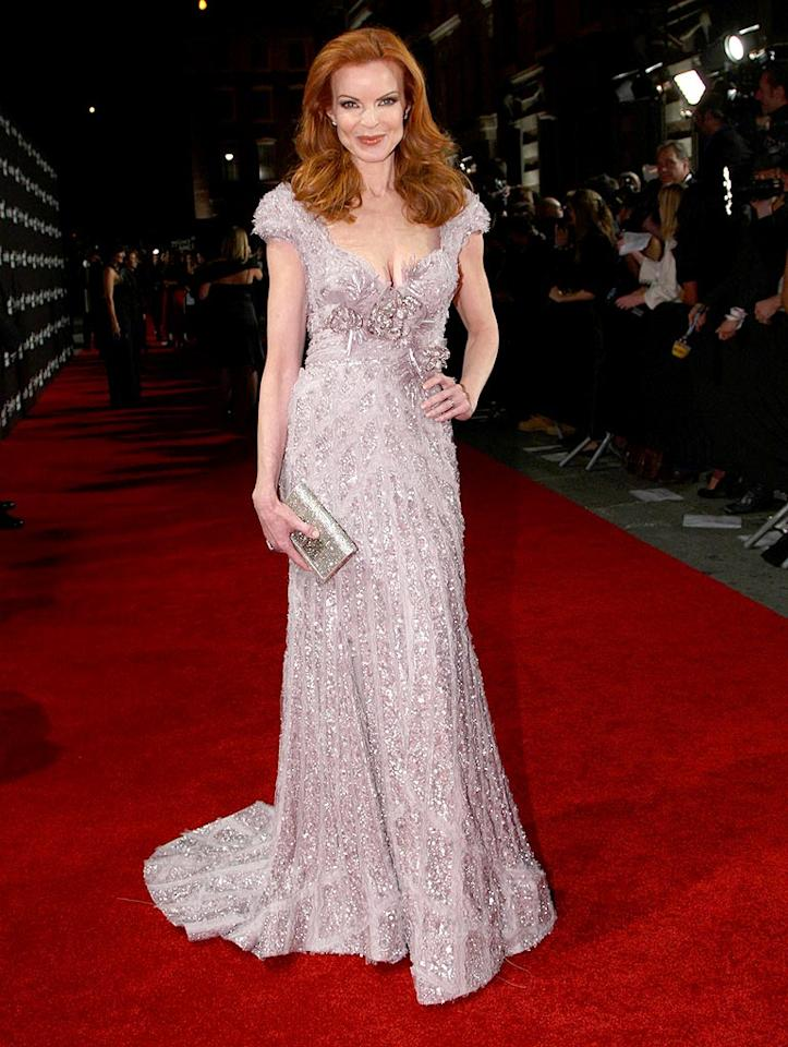 """Marcia Cross stole the spotlight in a lilac cap-sleeved Elie Saab stunner at a recent charity soiree. Alberto E. Rodriguez/<a href=""""http://www.gettyimages.com/"""" target=""""new"""">GettyImages.com</a> - February 20, 2009"""