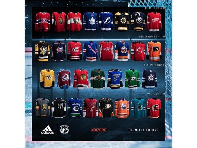 new products 133d7 99a6b First look: Adidas NHL jerseys, including Golden Knights