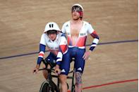 <p>Competing in the track cycling men's B 4000m individual pursuit final, Stephen Bate and pilot Adam Duggleby scored silver – not the result they wanted but one they admitted was inevitable with such strong Dutch competition. </p><p>Speaking after the race Bate shared his thoughts: 'I am not going to say it's great, but when the Dutch go that quick you just have to take your hat off to them.'</p>