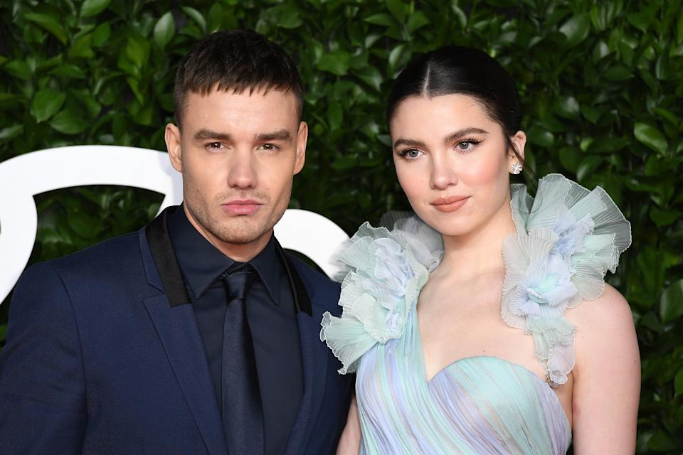LONDON, ENGLAND - DECEMBER 02: Liam Payne and Maya Henry arrive at The Fashion Awards 2019 held at Royal Albert Hall on December 02, 2019 in London, England. (Photo by Jeff Spicer/BFC/Getty Images)