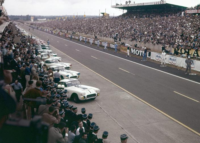 1960 Corvette at Le Mans.