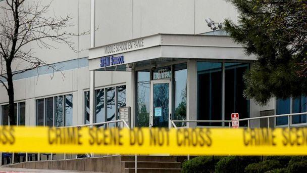 PHOTO: Crime scene tape is seen outside the school following the shooting at the STEM School in Highlands Ranch, Colo., May 8, 2019. (Rick Wilking/Reuters, FILE)