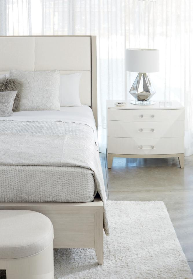 """<p>Isn't it time for something fresh? Like the new Axiom collection by Bernhardt Furniture, shown here. An ultra-high-end look featuring soft white and grey finishes, complex wood veneers, clear acrylic hardware, and brushed silver accents. For those who appreciate a modern, soft-spoken glamour. </p><p><a rel=""""nofollow"""" href=""""http://www.bernhardt.com/"""">BERNHARDT.com</a> </p>"""
