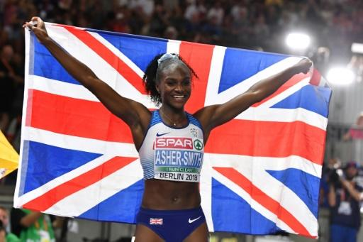 Dina Asher-Smith stormed to victory in a British record of 10.85 seconds
