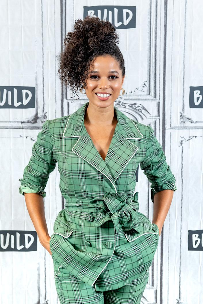 """NEW YORK, NEW YORK - OCTOBER 02: Actress Alisha Wainwright discusses the Netflix show """"Raising Dion"""" with the Build Series at Build Studio on October 02, 2019 in New York City. (Photo by Roy Rochlin/Getty Images)"""