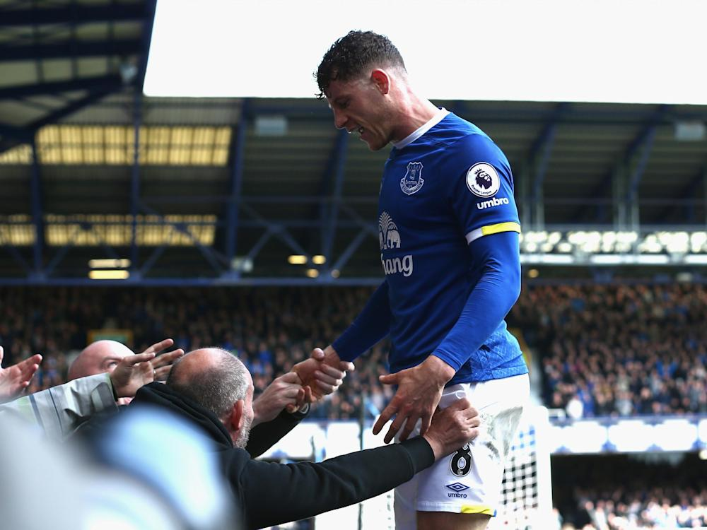 Barkley celebrates Everton's vital second goal: Getty