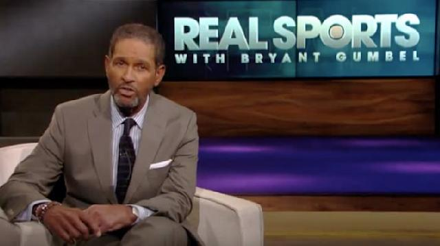 """""""Real Sports"""" host Bryant Gumbel ended his Tuesday show with a powerful message that started with a message of thanks to President Donald Trump."""