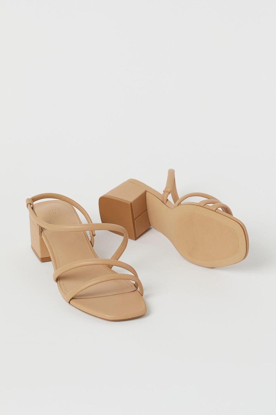 <p>The refined look of these <span>Sandals</span> ($25) make them a great choice for garden parties.</p>