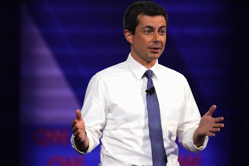 Pete Buttigieg noted the anti-competitive behavior among tech companies. (Photo: REUTERS/Mike Blake)