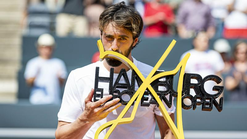 Basilashvili matches Federer feat as he retains Hamburg title