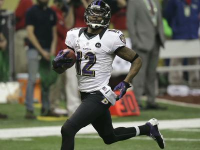 New Orleans native Jacoby Jones set a Super Bowl record with 290 all- purpose yards, including a 108 yard kickoff return touchdown to start the second half in the Baltimore Ravens win over the San Francisco 49ers. (Feb. 4)