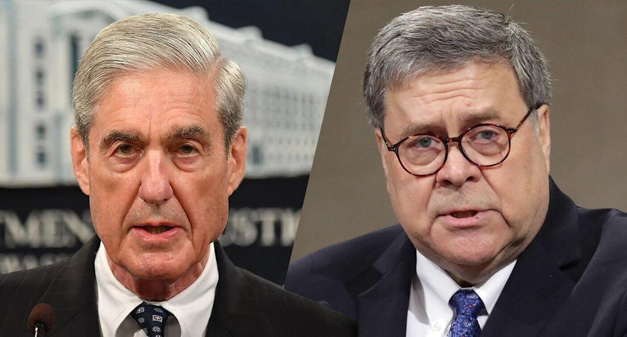Special counsel Robert Mueller and Attorney General William Barr (Photos: Mandel Ngan/AFP/Getty Images, Chip Somodevilla/Getty Images)