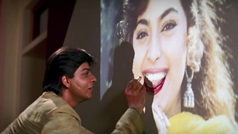 Darr: In the same year, SRK chose to do another negative character with Yash Chopra's romantic thriller Darr. His style of saying I Love You K.K.K… Kiran! Gave nightmares to many girls. Despite having established actors like Sunny Deol and Juhi Chawla in the lead roles, SRK stole all the limelight and become the star.