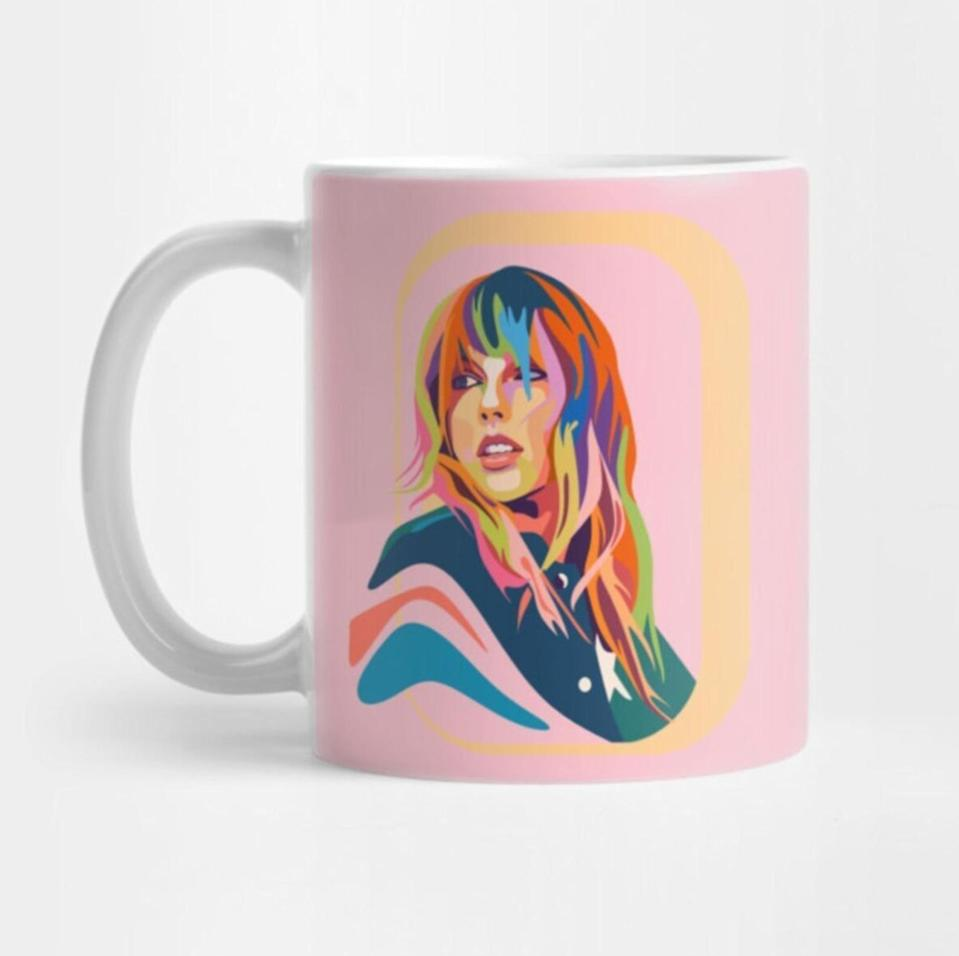 <p>They won't want to sip anything out of the <span>Taylor Swift Printed Mug</span> ($19, originally $25), it's so pretty. </p>