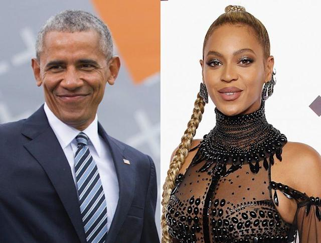 Barack Obama and Beyoncé. (Photo: Getty Images)