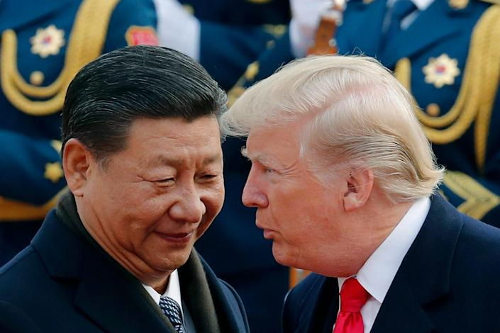 Chinese President Xi Jinping and President Donald Trump in Beijing, on May 9, 2019.