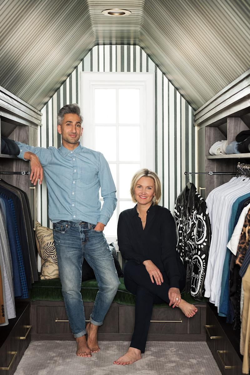 While he designed the rest of his home, France hired Jessica Bennett of Alice Lane Home to design his closet.