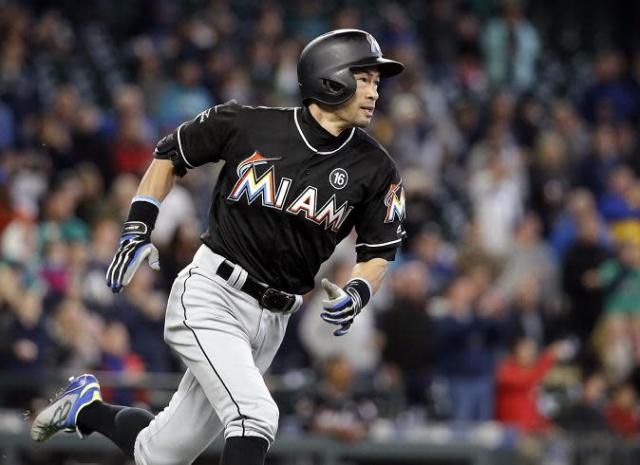 Ichiro Suzuki starts to round the bases after hitting an emotional home run against the Mariners at Safeco Field. (AP)