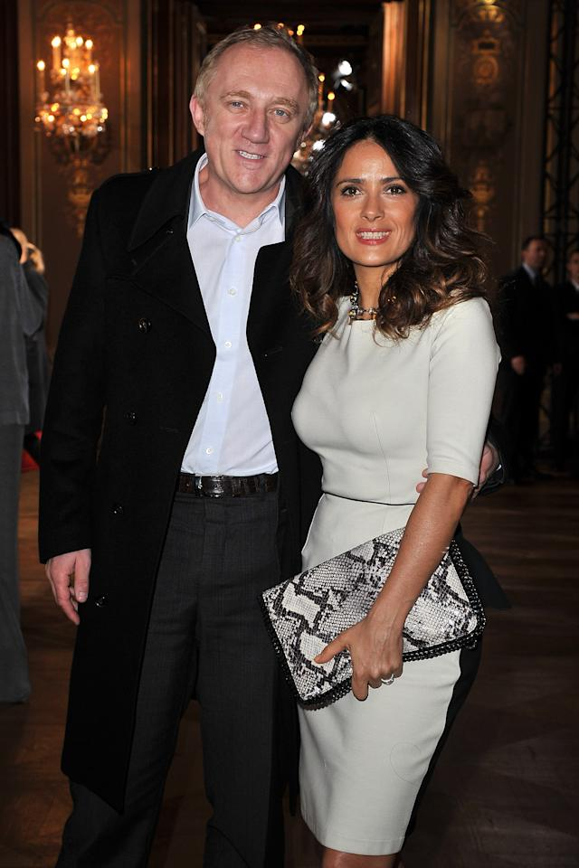 PARIS, FRANCE - MARCH 05:  Francois-Henri Pinault and Salma Hayek attend the Stella McCartney Ready-To-Wear Fall/Winter 2012 show as part of Paris Fashion Week on March 5, 2012 in Paris, France.  (Photo by Pascal Le Segretain/Getty Images)