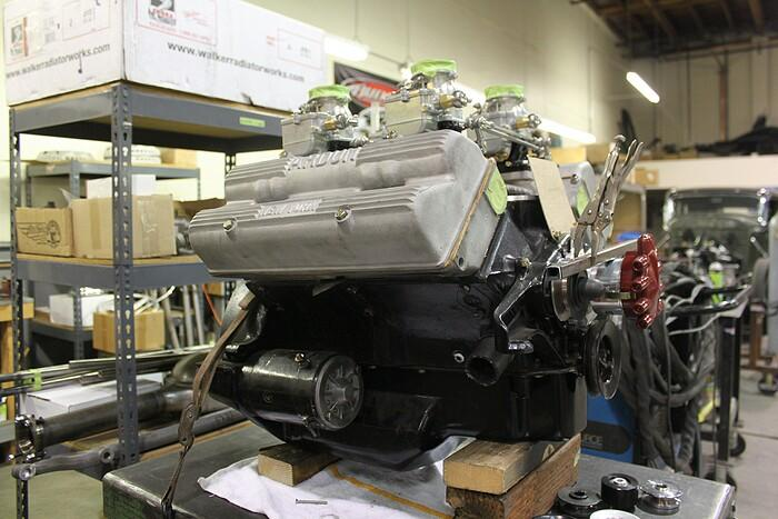 Rare Ford V8-60 with Ardun heads in Roy Brizio's shop