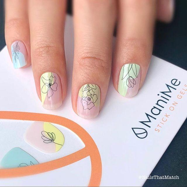 "<p>If you haven't tried press-on gel nails from Mani Me, now's the time, and this sketchy botanical design by New York City artist Ami Vega is a great place to start this season.</p><p><a href=""https://www.instagram.com/p/CNDnywsss8o/"" rel=""nofollow noopener"" target=""_blank"" data-ylk=""slk:See the original post on Instagram"" class=""link rapid-noclick-resp"">See the original post on Instagram</a></p>"