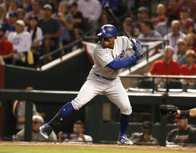 Curtis Granderson won't be playing for the Dodgers in the World Series. (AP)