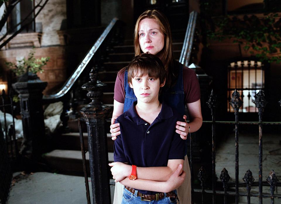 Laura Linney and Owen Kline in The Squid and the Whale.