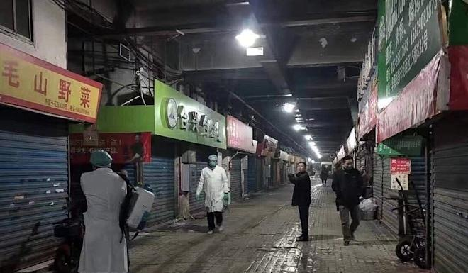 Wuhan's Huanan Seafood Wholesale Market, where some of the viral pneumonia cases originated. Photo: Handout
