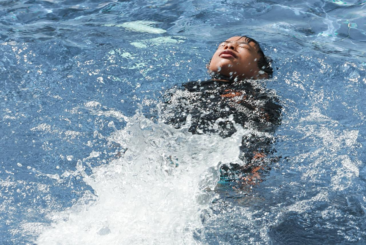 "<p>If your toddler or even older child doesn't know how to swim or isn't the best swimmer, they should definitely be taught <a href=""https://www.popsugar.com/family/Swimming-Skill-Can-Save-Your-Child-Life-37518156"" target=""_blank"" class=""ga-track"" data-ga-category=""Related"" data-ga-label=""https://www.popsugar.com/family/Swimming-Skill-Can-Save-Your-Child-Life-37518156"" data-ga-action=""In-Line Links"">how to float in case of an emergency</a>. Teaching them this skill will help them to stay calm, keep their head above water, and breathe until someone can help get them out of the pool or back into the shallow end.</p>"