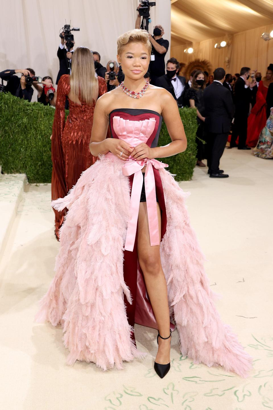 """<h1 class=""""title"""">Storm Reid, The 2021 Met Gala Celebrating In America: A Lexicon Of Fashion - Arrivals</h1><cite class=""""credit"""">Getty</cite>"""