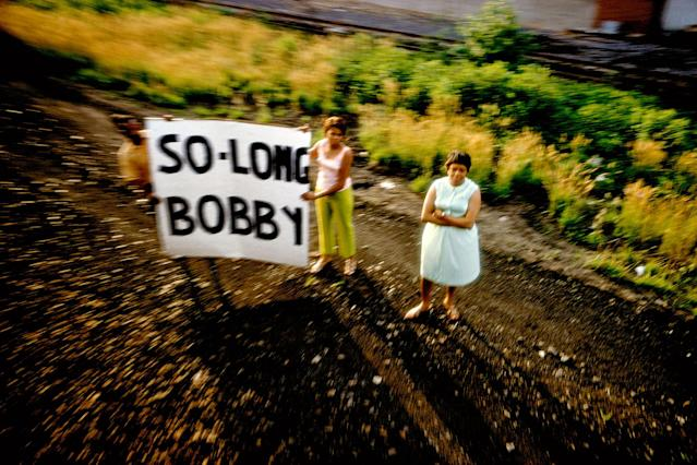 <p>Robert Kennedy funeral train, U.S.A., 1968. (© Paul Fusco/Magnum Photos) </p>