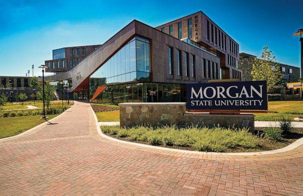 PHOTO: In this photo provided by Morgan State University, the Tyler Hall student services building is seen on the university's campus in Baltimore, Maryland, on July 28, 2020. (Paul