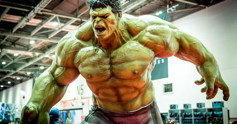 LONDON, ENGLAND - OCTOBER 27: The Hulk seen during MCM London Comic Con 2017 held at the ExCel on October 27, 2017 in London, England. (Photo by Ollie Millington/Getty Images)