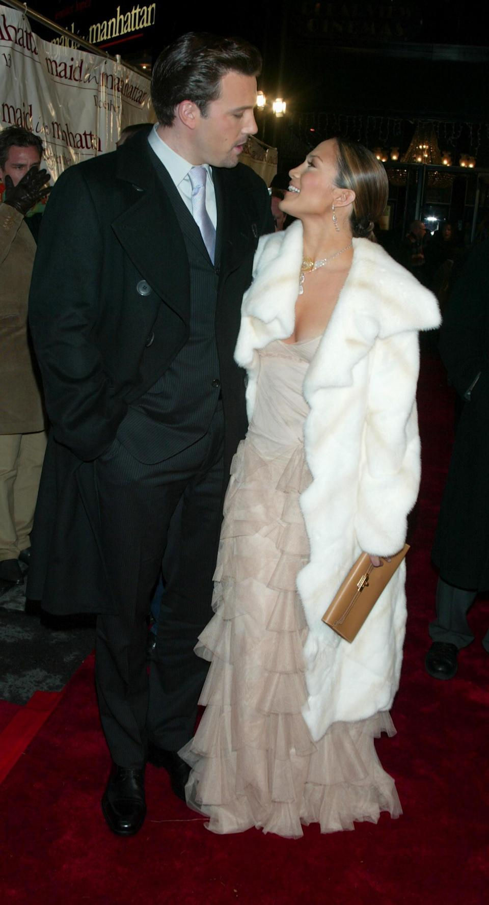 <p>At the <b>Maid in Manhattan</b> premiere in NYC in 2002, the two gave us bonafide Hollywood royalty vibes.</p>