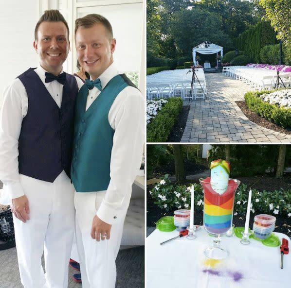 """""""I had the honor to officiate Ryan and Matt's wedding at The Mill Lakeside Manor."""" --&nbsp;<i>Andrea Purtell</i>"""