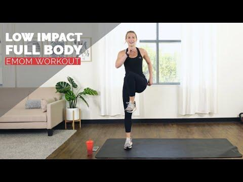 """<p>Nix the jumping and save sore joints with a low-impact EMOM workout. You'll finish with a one minute plank to really test your fitness. </p><p><a href=""""https://www.youtube.com/watch?v=XSeRoUNUeKE&ab_channel=SunnyHealth%26Fitness"""" rel=""""nofollow noopener"""" target=""""_blank"""" data-ylk=""""slk:See the original post on Youtube"""" class=""""link rapid-noclick-resp"""">See the original post on Youtube</a></p>"""