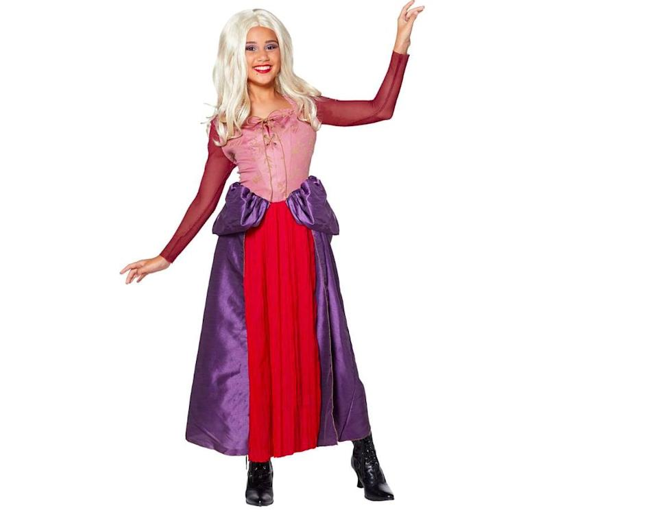 <p>Just like Sarah's outfit from the movie, this <span>Tween Sarah Sanderson Costume</span> ($45) features a fun purple and red dress.</p>