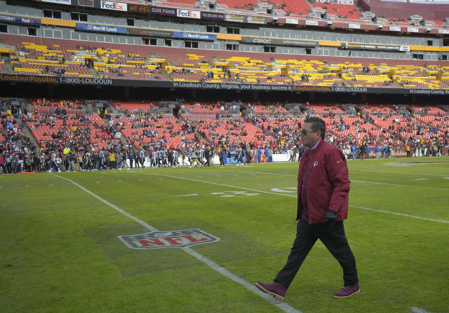 LANDOVER, MD - NOVEMBER 18: Washington Redskins owner Dan Snyder during a game between the Washington Redskins and the Houston Texans at FedEX Field on November 18, 2018, in Landover, MD. (Photo by John McDonnell/The Washington Post via Getty Images)