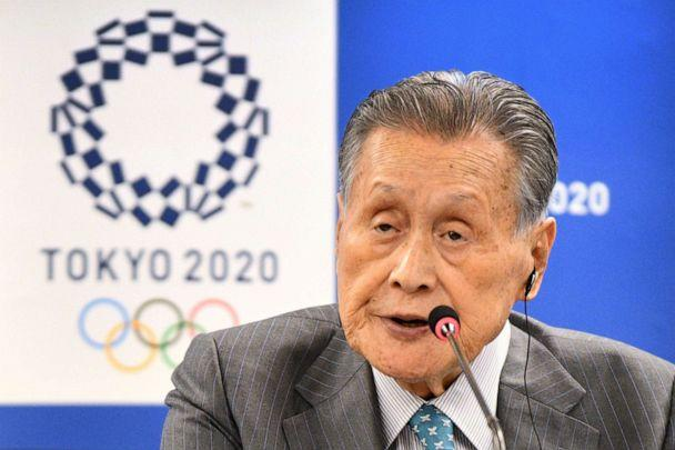 PHOTO: This file photo taken on Feb. 14, 2020, shows Tokyo 2020 president Yoshiro Mori speaking during a press conference following the International Olympic Committee project review meeting in Tokyo, Japan. (Kazuhiro Nogi/AFP via Getty Images)