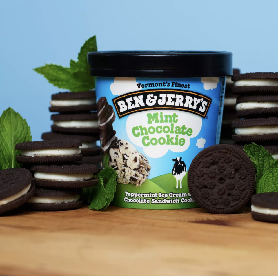 """<p>For those who like the combination of mint and chocolate, opt for Mint Chocolate Cookie because """"it's neither overly minty nor overly cookie-y"""" according to members of the Delish team. The peppermint ice cream includes chunks of chocolate sandwich cookies rather than plain old choc chips.</p>"""