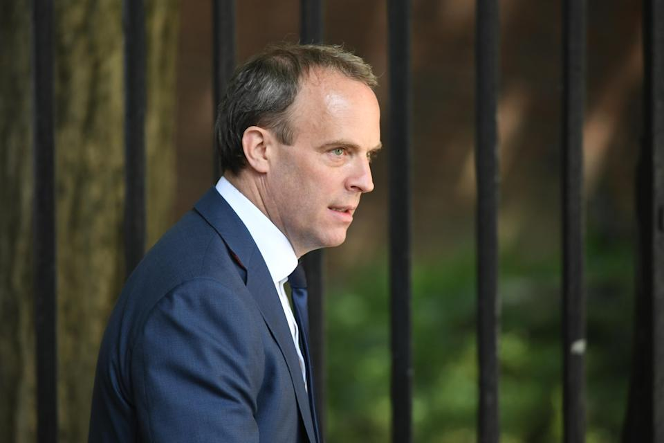 Foreign secretary Dominic Raab attacked China over alleged human rights abuses on Sunday. (PA)