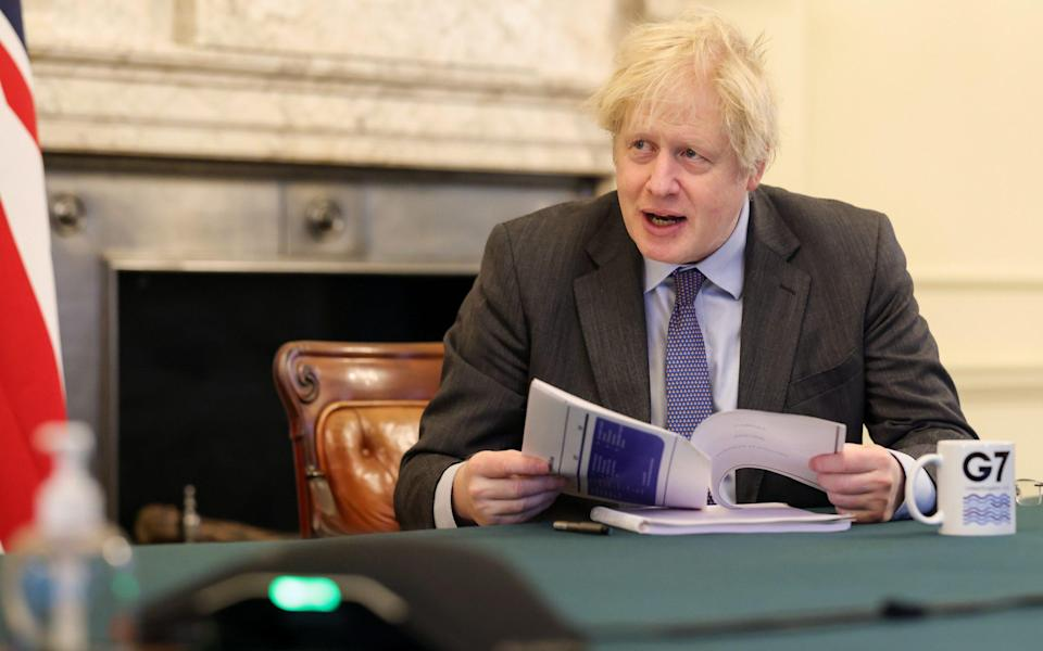 Prime Minister Johnson chairing the virtual weekly Cabinet meeting - Pippa Fowles/Number 10 Downing Street