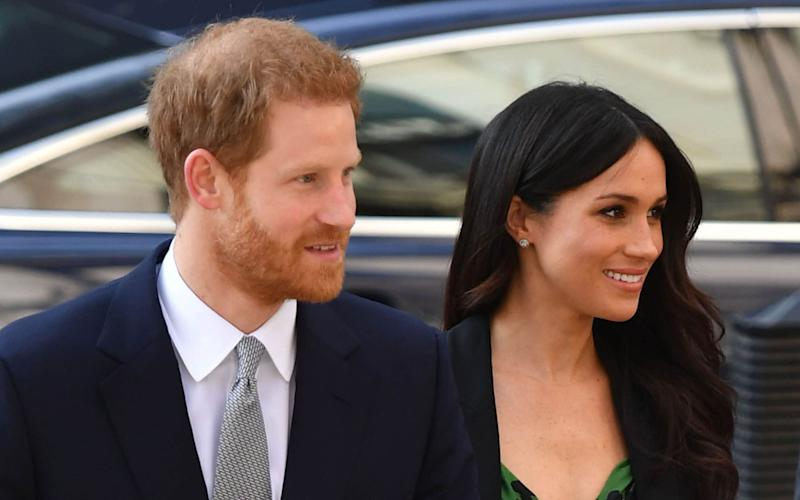 The image caused 'great distress' to the Sussexes while the Duchess was pregnant - PA