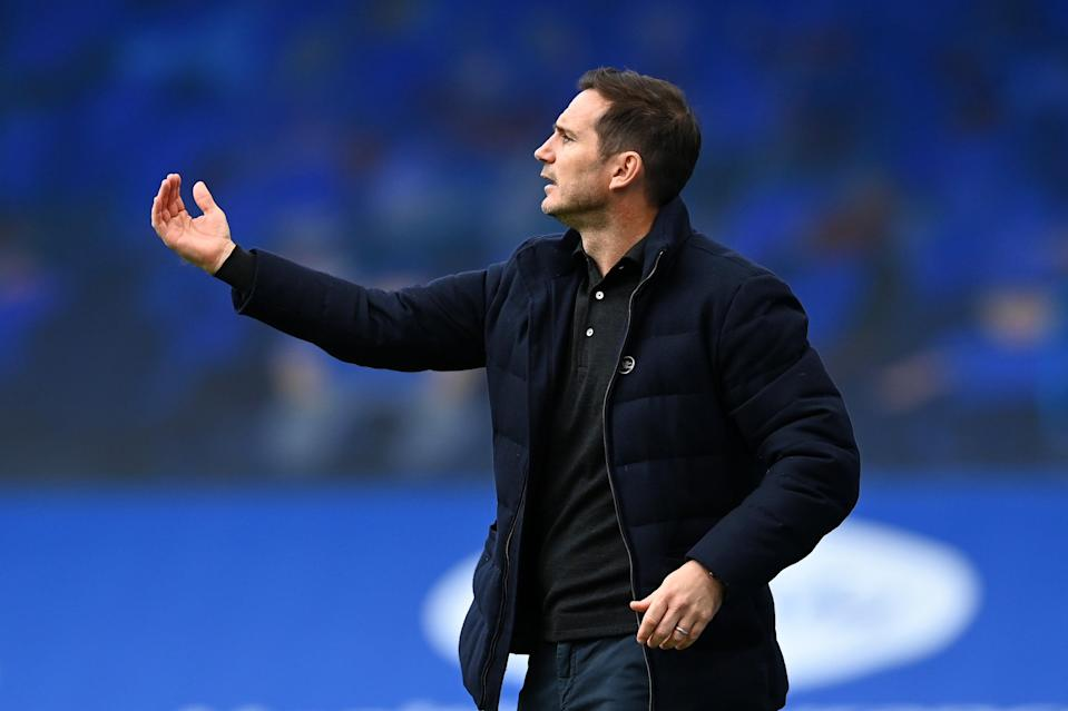 Frank Lampard gestures from the touchline at Stamford Bridge (Getty)