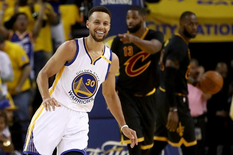 """Stephen Curry, #30 of the Golden State Warriors, describes the upcoming game against the Cavaliers as a """"huge hurdle"""" (AFP Photo/EZRA SHAW)"""